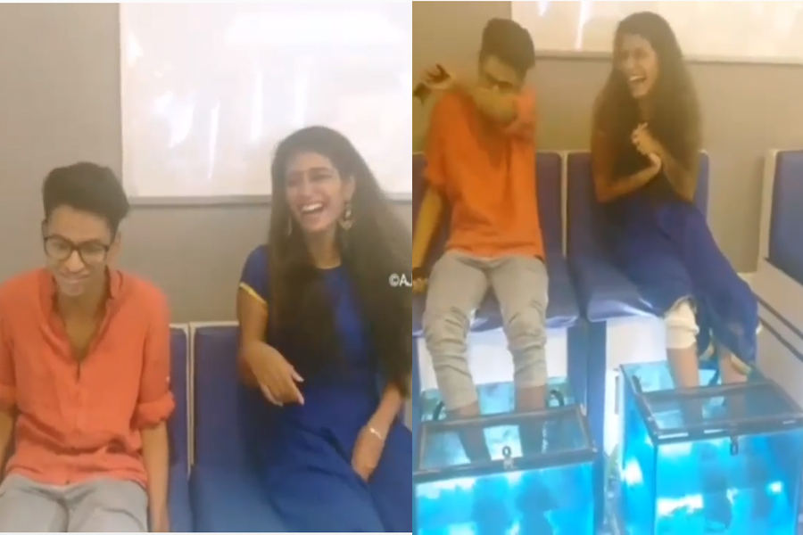 Photo of Priya Prakash Varrier: When The Fish Spa It, then laughing, Video Viral